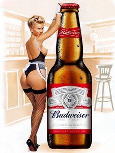 £4.99 GBP - Budweiser Pin Up Girl, Vintage Retro Metal Sign Plaque, Novelty Gift, Bar/Pub Wi #ebay #Home & Garden