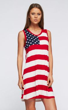 Liberty Dress Red 4th of July Independence Day wear by 12 pm Mon Ami