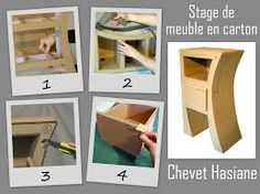 1000 images about meuble en carton on pinterest diy cardboard cardboard wardrobe and comment. Black Bedroom Furniture Sets. Home Design Ideas