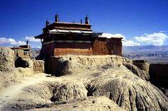 A temple at the ancient capital of the Guge Kingdom, Tsaparang, Ngari, Tibet, China
