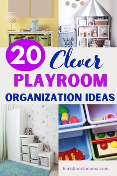The mark of a successful play day is your kids' messy playroom. But it doesn't have to be! Check out this exhaustive guide of playroom organization and storage ideas that will have you with a clutter-free play area in 30 minutes or less. Playroom Organization, Playroom Decor, Nursery Decor, Organization Ideas, Storage Ideas, Storing Stuffed Animals, Kids Artwork, Creative Storage, Toy Storage