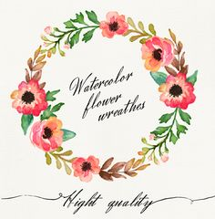 Watercolor flower wreathes on Behance