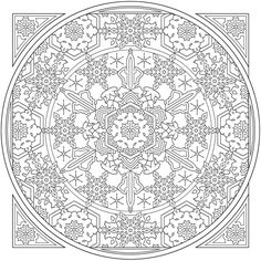 Creative Haven Snowflake Mandala Colouring Book @ Dover Publications