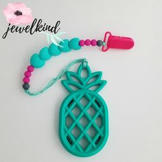 Teething Clip Pineapple Pineapple Clip Silicone Teether