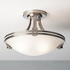 "Possini Euro Design Nickel 16"" Wide Ceiling Light Fixture"