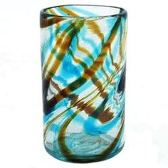 @Overstock - The retro-style brown and blue swirls on these pint drinking glasses will liven up your kitchen decor. Hand-crafted with recycled glass, each glass in this Sinatra collection is unique. This set of four pint glasses is great for energizing your summer.http://www.overstock.com/Home-Garden/Sinatra-Pint-Glasses-Pack-of-4/6602417/product.html?CID=214117 $37.49