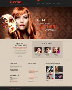 Theater Responsive WordPress Theme. Additional features, comprehensive documentation and stock photos are included.