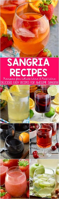 A delicious glass of sangria is usually just a few ingredients away. They are simple to make and the variety of sangria recipes you can make is only limited to your imagination!