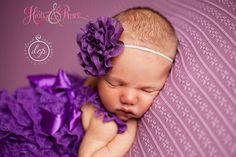 Purple Baby Headband-Halloween Baby Headband-Chiffon Headband,Birthday Headband-Baby Girl Headband-Newborn Coming Home-Ready 2 Ship. on Etsy, $5.95