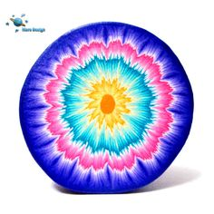 Polymer clay cane colorful round mandala cane by by marsdesign