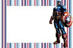 Capitão América - Kit Completo com molduras para convites, rótulos para guloseimas, lembrancinhas e imagens!