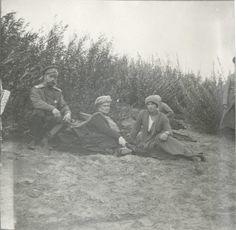 Nicholas II, Empress Alexandra and Grand Duchess Tatiana on the Dnieper: 1916.The Mauve Room