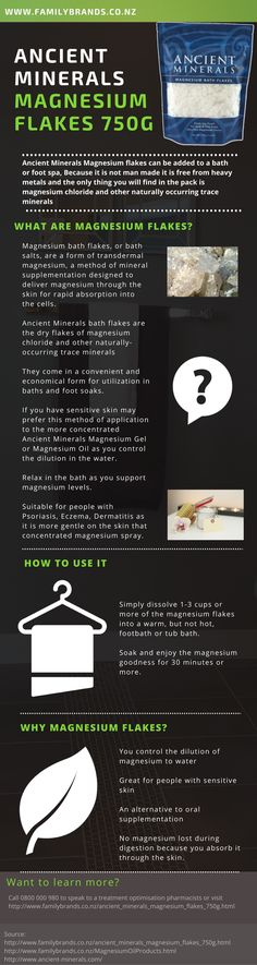 How to use Ancient Minerals Magnesium Bath Flakes for a relaxing bath or foot… http://stores.ebay.com/Nutritional-Wellness-Store/Magnesium-Oil-/_i.html?_fsub=7284022015
