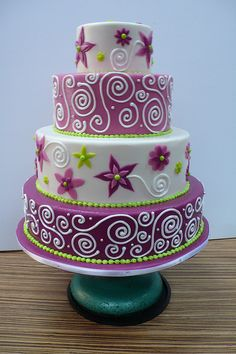Passion fruit flowers wedding cake 2 by CAKE Amsterdam - Cakes by ZOBOT, via Flickr
