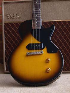 - so simple. My dad has a in brown wood grain. Guitar Pics, Cool Guitar, Horn Instruments, Gibson Les Paul Jr, Sing Song, Les Paul Guitars, Prs Guitar, Guitar Collection, Gibson Guitars