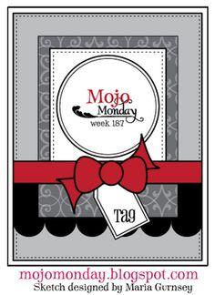 Mojo Monday sketch No. 187. #cards #card_making #sketches #crafts