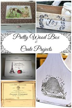 I wanted to share with you some of my favorite wooden box and crate projects that were submitted by readers of The Graphics Fairy.