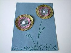 Summer Flower Crafts For Kids.      This Newspaper Flower craft for kids is a ton of fun!  It's simple and easy, an