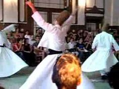 "A video of Whirling Dervishes in Istanbul. ""The Whirling Dervishes are a sect of Islam taught to love everything."""