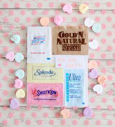 sugar packet valentine's