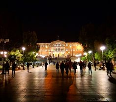 The Greek parliament at the Syntagma square. Athens centre.