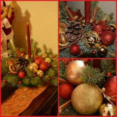 Another christmas table centerpiece made by me