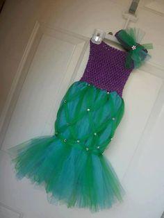 Mermaid TuTu Costume by ShabbyChicB on Etsy, $35.00