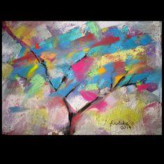drzewo 7 - rysunek pastelami suchymi / Katarzyna Radzka / Dekoracja Wnętrz / Rysunki i Grafiki