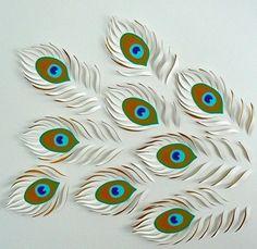Бумажные павлины