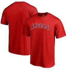 Los Angeles Angels of Anaheim Fanatics Branded Big & Tall Team Wordmark T-Shirt - Red
