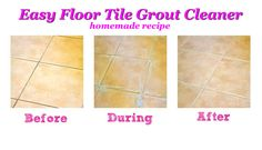 Easy Floor Tile Grout Cleaner