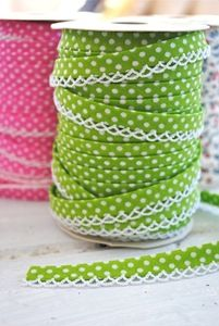 Cotton Bias Tape Ribbon pink and green! Love