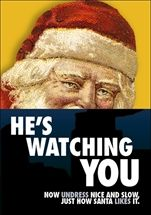 Show details for HE'S WATCHING YOU: HE'S WATCHING YOU. Now undress nice and slow, just how Santa likes it. A sinister Santa Christmas card from Smart Alex.