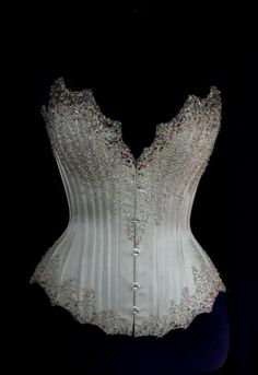 Couture Wedding Corsets and Gowns: Silver Beaded Corset
