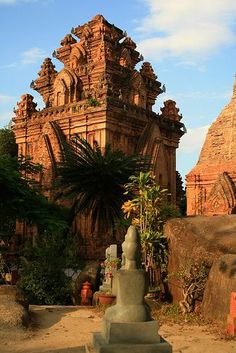 Po Nagar is a Cham temple tower founded sometime before 781 AD and located in the medieval principality of Kauthara, near modern Nha Trang in Vietnam. It is dedicated to Yan Po Nagar, the goddess of the country, who came to be identified with the Hindu goddesses Bhagavati and Mahishasuramardini, and who in Vietnamese is called Thiên Y Thánh Mâu.