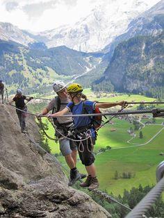 Klettersteig Allmenalp, Switzerland. Photo by Michael Beat