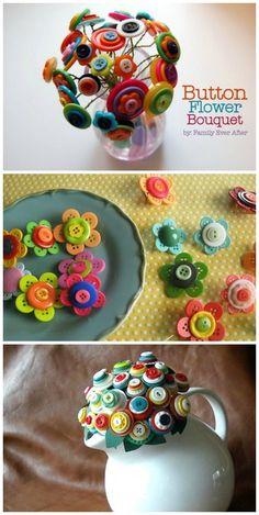 button flowers bouquet