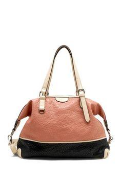 Tosca Handbags Washed Colorblock Satchel