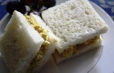 Coronation Chicken tea sandwiches  - scroll down for recipe need some mango chutney to make (Downton Abbey Cooks)