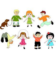Cartoon children vector 517225 - by sushkonastya on VectorStock®