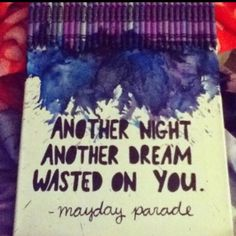 mayday parade - three cheers for five years Her Music, Music Love, Music Is Life, Band Quotes, Lyric Quotes, Heartbreak Quotes, Qoutes, Mayday Parade, Of Mice And Men
