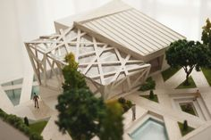 Wooden Restaurant - Perancangan Arsitektur 1 Architectural Model by : Ge