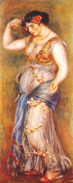 Dancer with Castanettes via Pierre-Auguste Renoir   Size: 64.8x155 cm Medium: oil on canvas