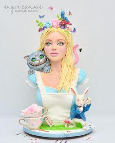 Alice In Wonderland Sculpted Cake by Sugar Canvas