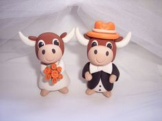 Texas Longhorns Wedding Cake Topper. $55.00, via Etsy.