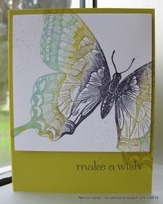 Canopy Crafts: Swallowtail Multi-Color Technique - this lady is a PRO at decorating the insides of cards!