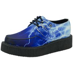 A8645 - Vegan Blue Lightning Creepers   #TUK