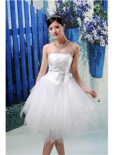 Charming Ball Gown Mini-Length Strapless Wedding Dress & unusual Wedding Dresses