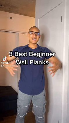Fitness Workouts, Gym Workout Videos, Gym Workout For Beginners, Fitness Workout For Women, Wall Workout, Plank Workout, Beginner Plank, Senior Fitness, Pilates
