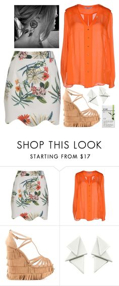 """Summer in the Office"" by slufsa ❤ liked on Polyvore featuring Blumarine, Charlotte Olympia, Esse, floral, fringe and office"